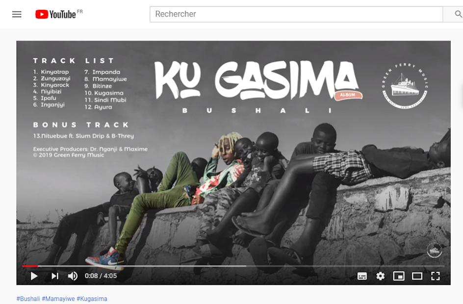 Bushali, étoile montante de la kinyatrap au Rwanda (capture d'écran).