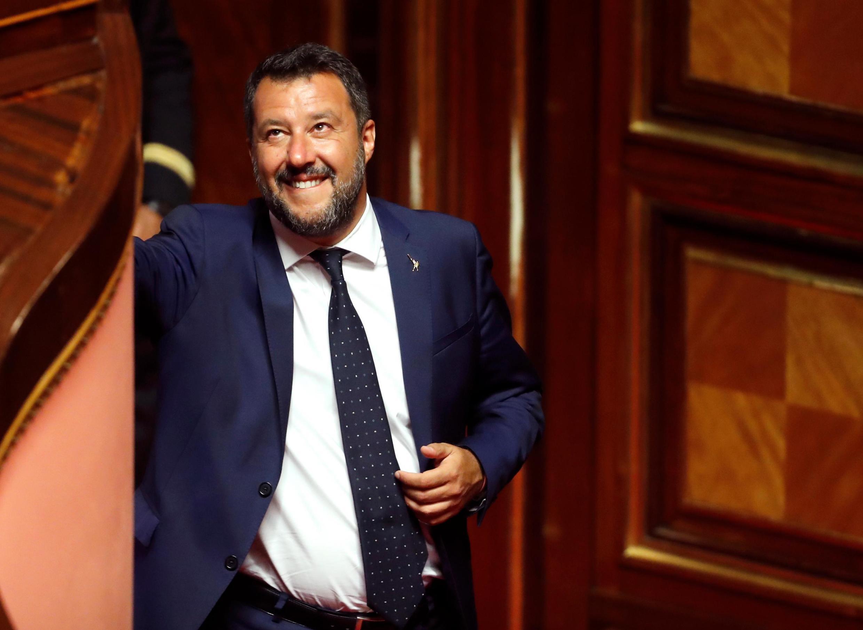 Bộ trưởng Nội Vụ Ý Matteo Salvini tại Thượng Viện ở Roma, ngày 05/08/2019.