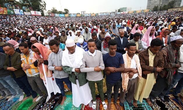 Al'ummar Musulmi yayin Sallar Idi a kasar Habasha.