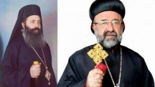 Fotomontagem dos dois bispos ortodoxos raptados esta segunda-feira na Síria.
