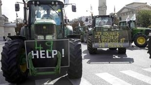 French farmers protest earlier this year