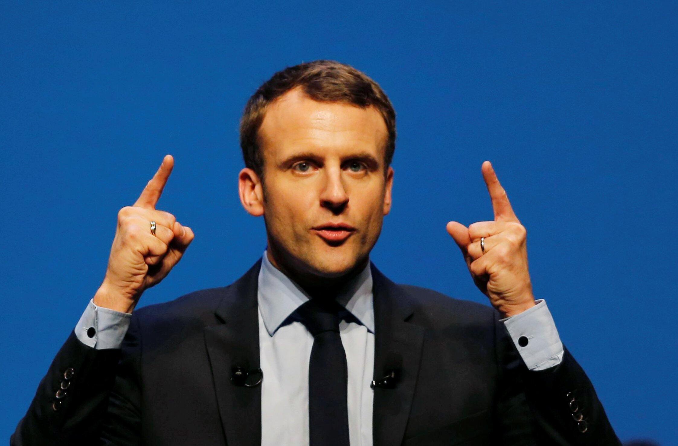 Mgombea wa urais nchini Ufaransa, Emmanuel Macron.