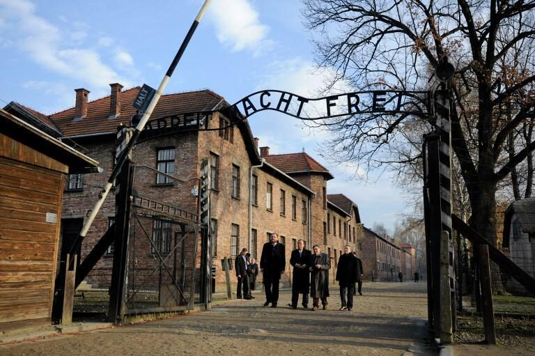 Campo de concentração de Auschwitz em Oświęcim na Polônia