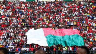 """Lors d'un match des """"Barea"""" de Madagascar face au Sénégal, en éliminatoires de la CAN 2019."""