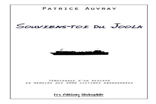 """Couverture du livre - """"Souviens du Joola"""" de Patrice Auvray"""