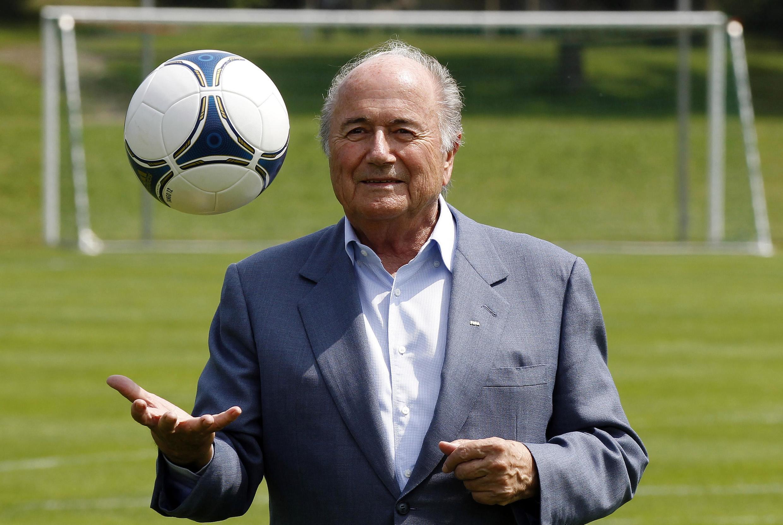 Sepp Blatter, presidente da FIFA, durante coletiva de imprensa em sua sede em Zurique, na Suíça, em foto di dia 4 de julho.