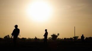 Wasu Sojin Nijar da ke yaki da ta'addanci a yankin Sahel.