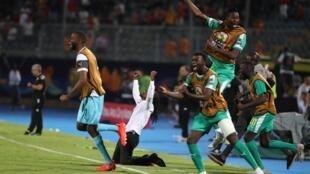 La joie des Sénégalais après leur qualification en finale de la CAN 2019.