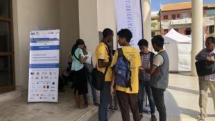 A Madagascar, les jeunes sont les plus touchés par le chômage. Ici, lors du 4ème forum de l'orientation professionnelle, à Antananarivo, le 9 novembre 2019.