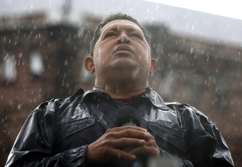 Hugo Chávez en octubre de 2012, Caracas.