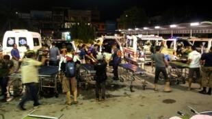 Les services de secours en action après l'attaque, dans la province de Yala, sud de la Thaïlande, le 6 novembre 2019.