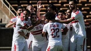 L'équipe du Zamalek lors de sa victoire face à Gor Mahia (4-2), le 3 février 2019.