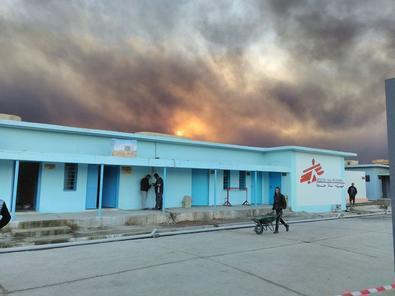 Hôpital de Qayyarah en Irak, en décembre 2016.