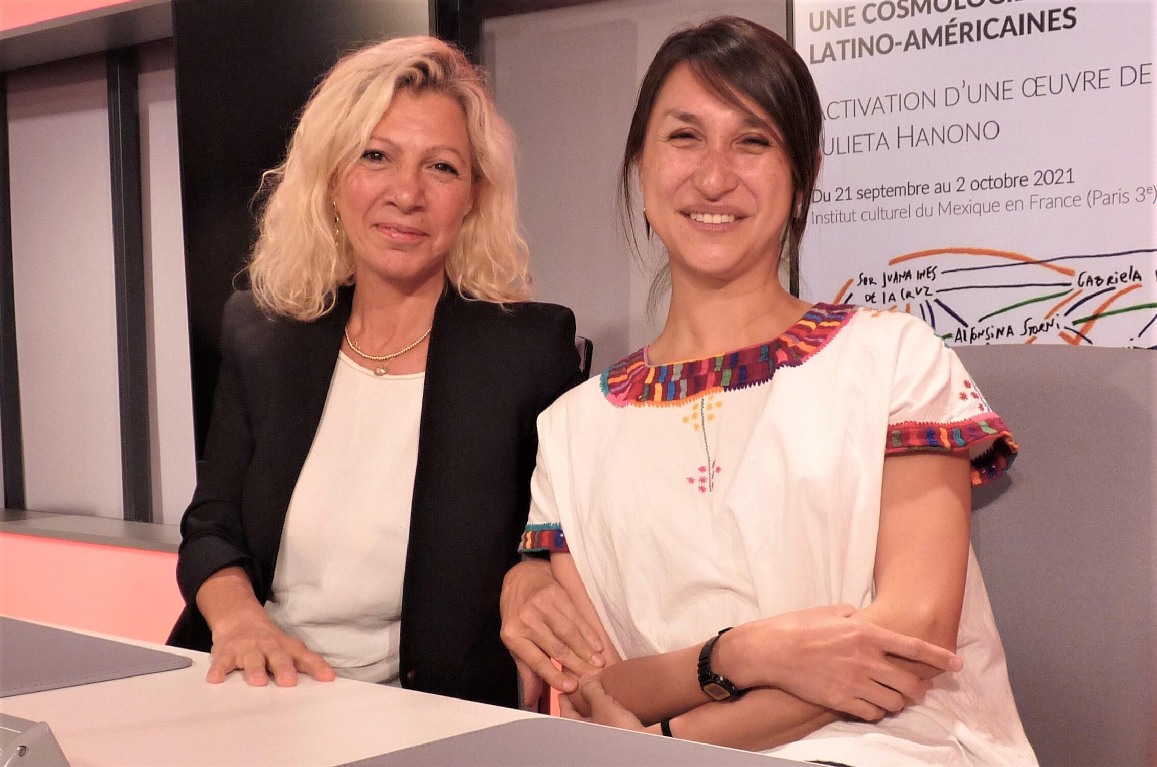 Julieta Hanono e Ingrid Arriaga en RFI