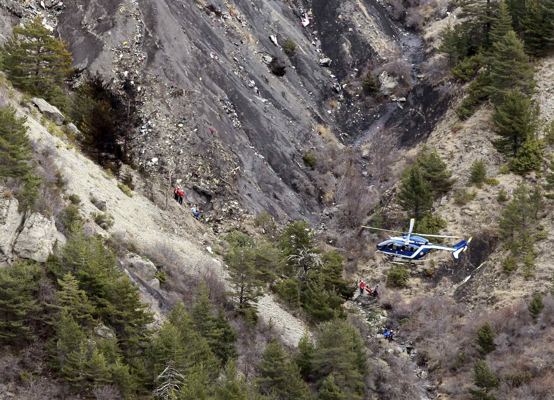 Local do acidente com o avião da Germanwings.