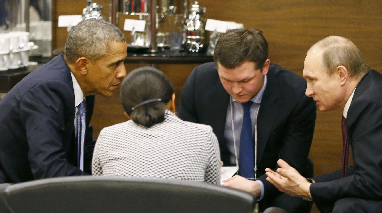 2015年11月15日美國總統奧巴馬和俄羅斯總統普京在土耳其20國峰會