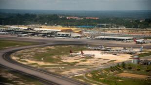 Vue de l'aéroport de Manaus, au Brésil.