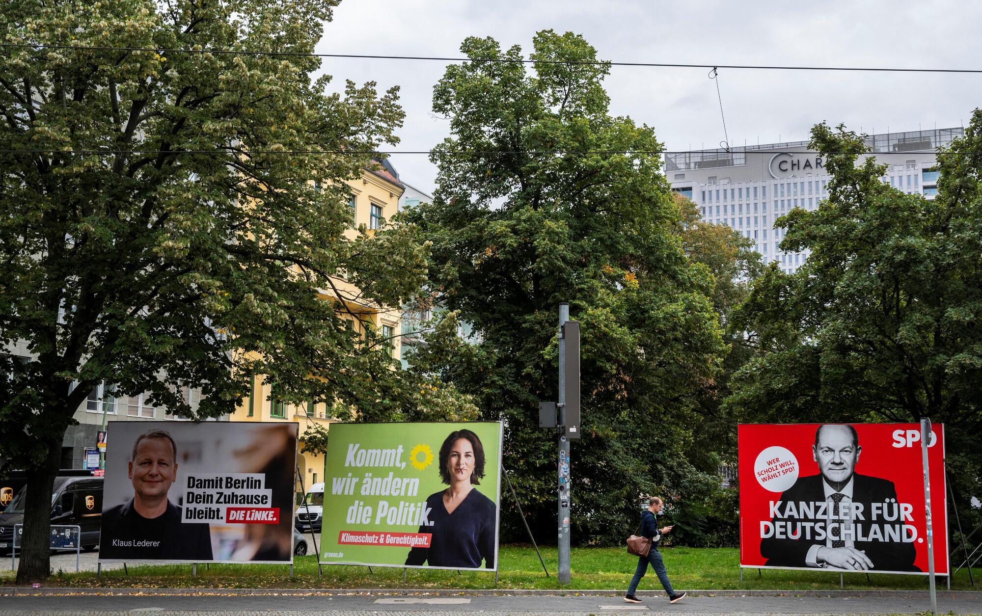 Verts - Die Grünen - SPD - Die Linke - Allemagne - campagne