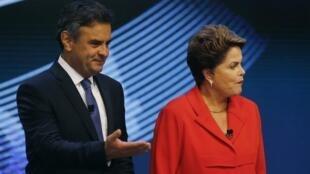 Petista Dilma Rousseff está entre dois e três pontos à frente de Aécio Neves, dizem pesquisas