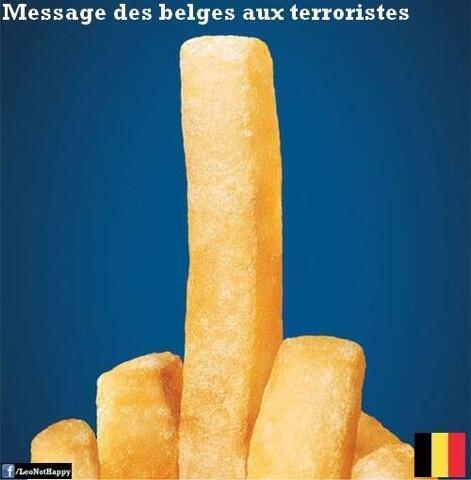 Batata frita manda mensagem para terroristas