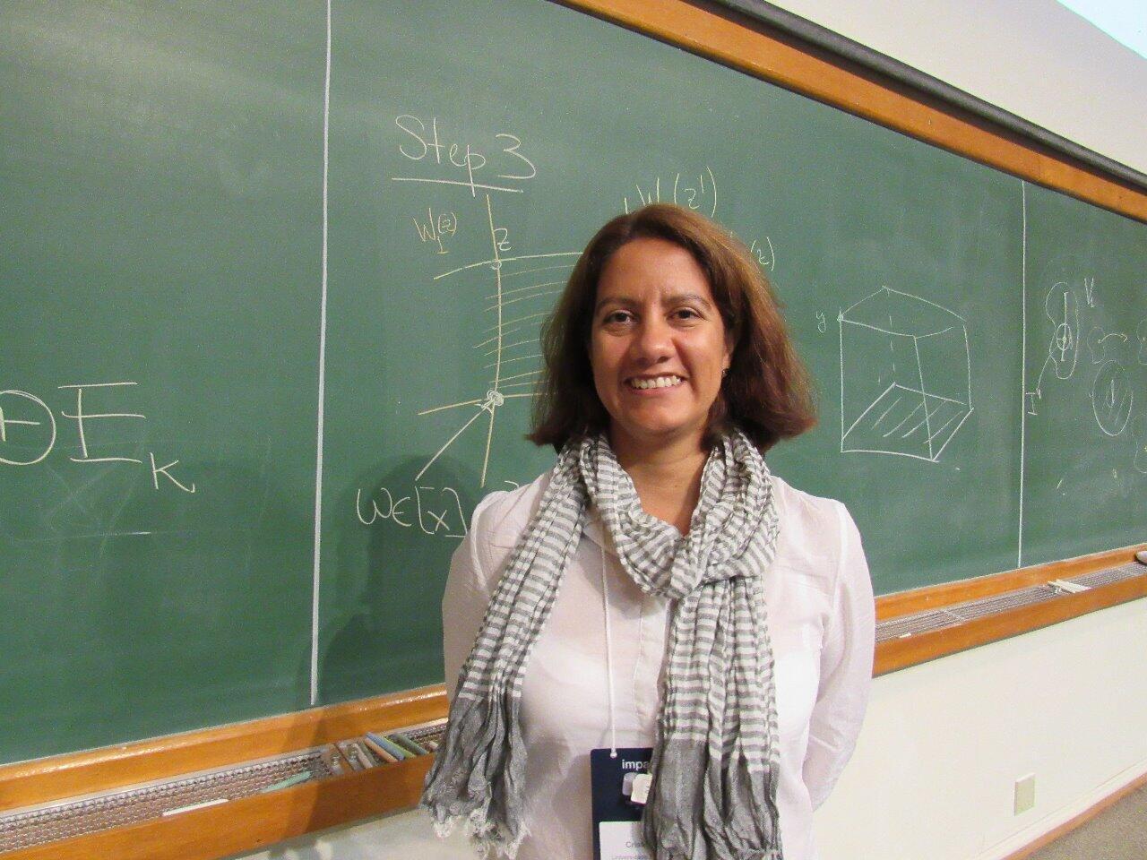 A professora de matemática Cristina Lizana Araneda.