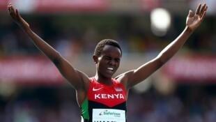Mwanariadha wa Kenya Jackline Wambui alivyoshinda  mbio za Mita 800.