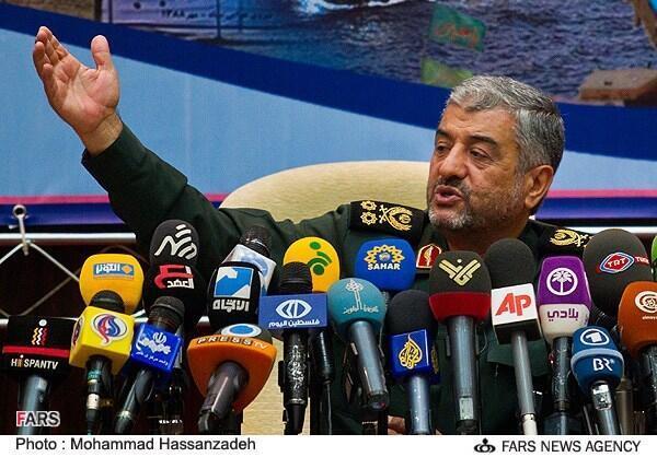O general Mohammad Ali Jafari, chefe da Guarda da Revolução.