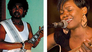 le chanteur malgache Noir  et la chanteuse nigérianne M Fon
