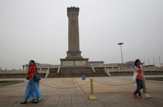 Monumento dos Heróis do Povo na Praça Tiananmen (Praça da Paz Celestial).