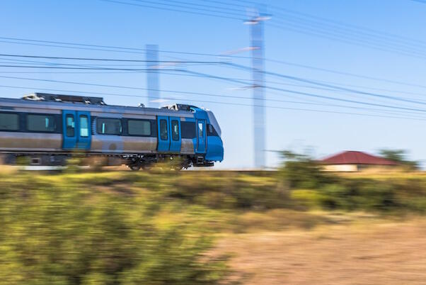 The X'Trapolis MEGA train, from the Alstom X'Trapolis family, has been customised for South Africa's narrow Cape Gauge.