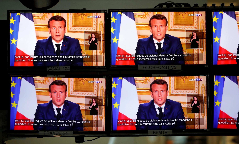 Quatrième adresse aux Français d'Emmanuel Macron depuis le début de l'épidémie, le 13 avril 2020.