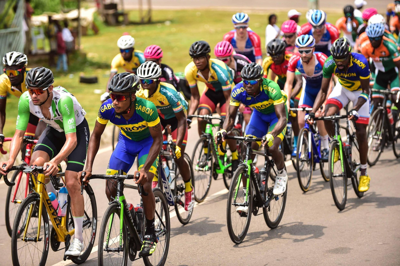 Les trois derniers participants gabaonais lors de la quatrième étape, le 23 janvier 2020.