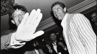 Mick Jagger et Arnold Schwarzenegger