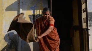 Bà Jashodaben Modi tại ngôi nhà ở Brahmanwada. Ảnh chụp ngày 25/11/2014.