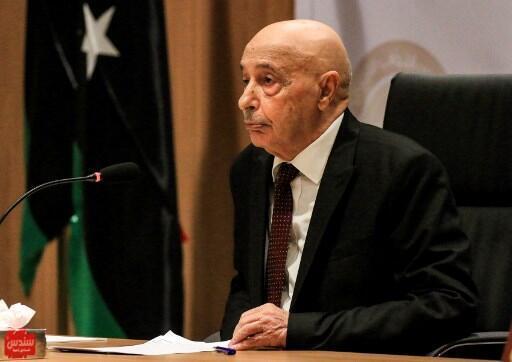 Le chef du Parlement libyen Aguila Saleh.