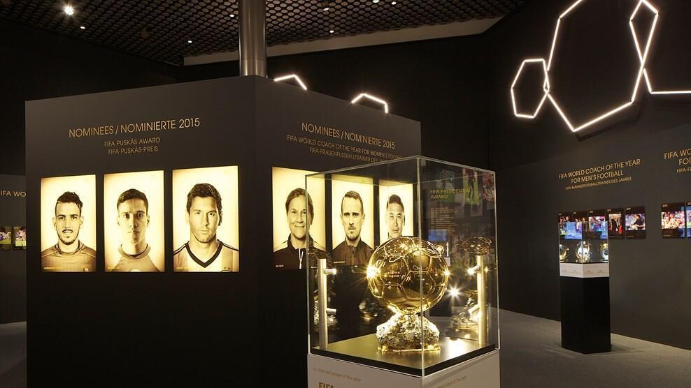 Triền lãm Quả bóng Vàng tại Bảo tàng Bóng đá FIFA, Thụy Sĩ.