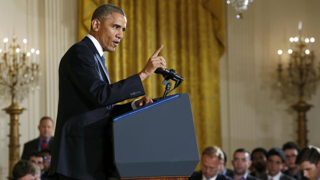 Tổng thống  Barack Obama, trả lời họp báo ngày 05/11/2014 tại Nhà Trắng.