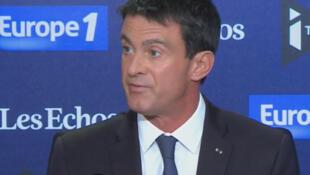 Manuel Valls on Europe 1 this morning, Sunday, 11 September