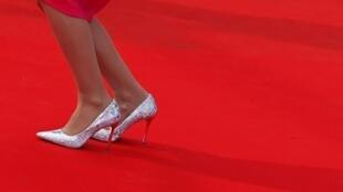 Prise de vue sur le tapis rouge lors de la cérémonie de clôture du 67e Festival de Cannes.