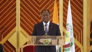 Le président Alassane Ouattara, le 30 juillet 2013, à Yamoussoukro