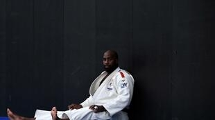 Le judoka français Teddy Riner lors d'un entraînement le 30 janvier 2020 à l'INSEP, à Paris