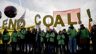 Climate change activists also gathered in Berlin, Germany on 1 December 2018 to protest against the use of coal.