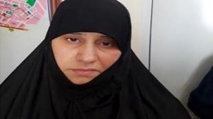 «اسما فوزی محمد القبیسی» همسر اول ابوبکر البغدادی که بگفتۀ مقامات ترکیه در روز دوم ژوئن سال ٢٠١٨ در استان ختای ترکیه دستگیر شده است