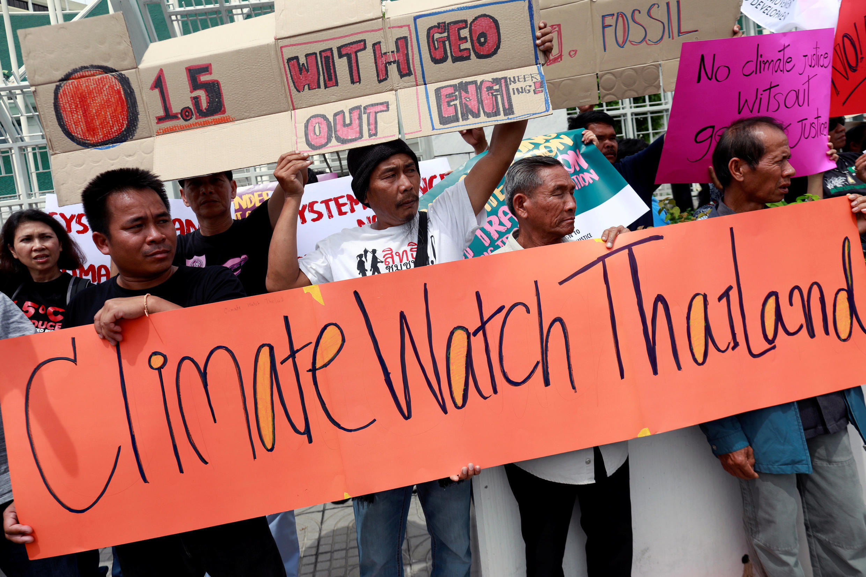 Activistas en Bangkok, Tailandia