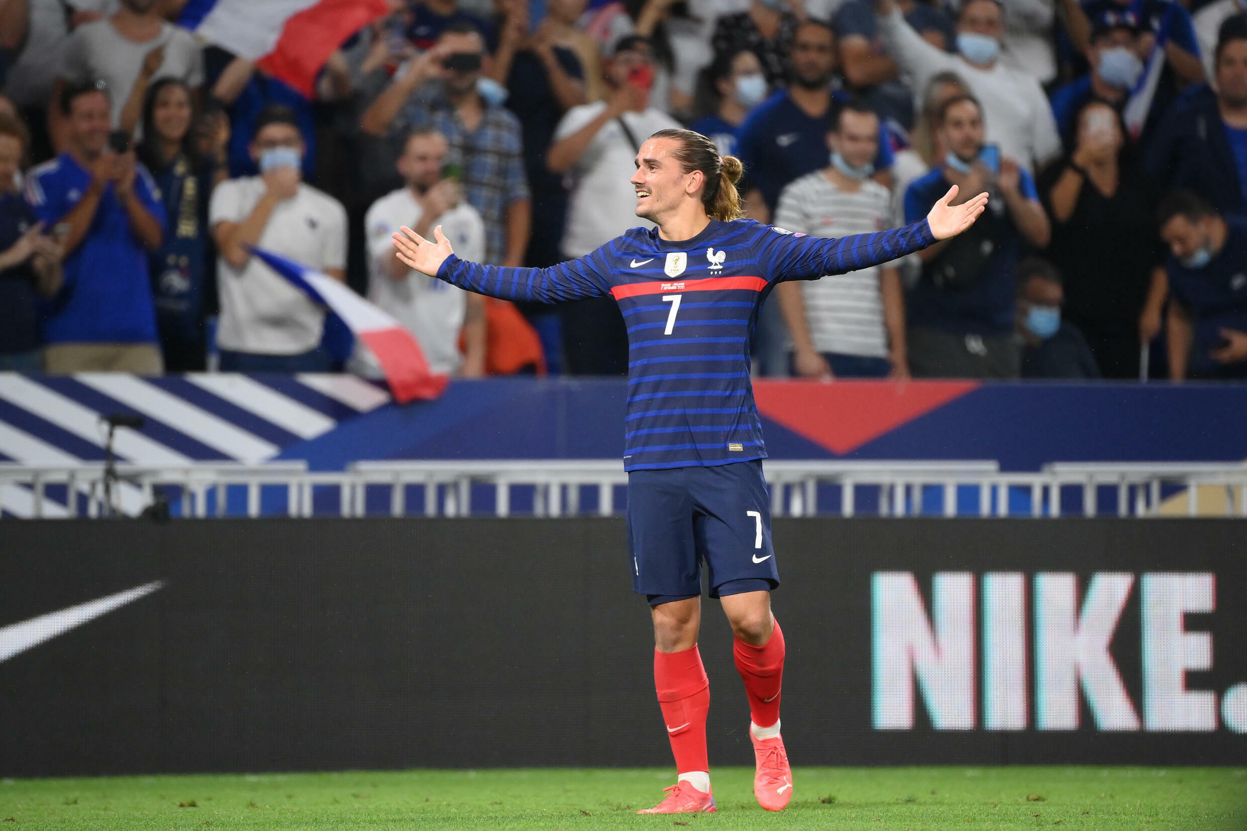 Antoine Griezmann scored twice as France won for the first time in six matches