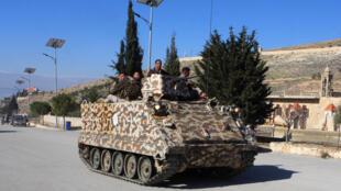 Un véhicule blindé transport de troupes de l'armée libanaise à Raas Baalbek le 23 janvier 2015 (image d'illustration).