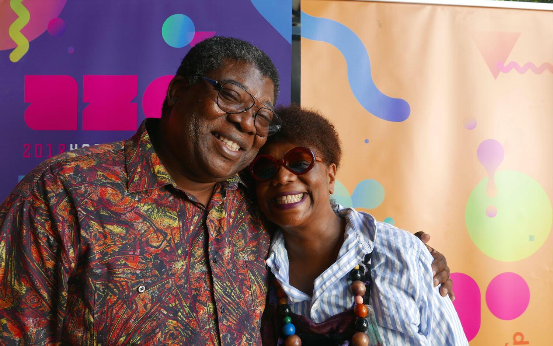 Roberto Chitsondzo et Nathalie Natiembé à l'Azgo Festival Maputo, Mozambique.