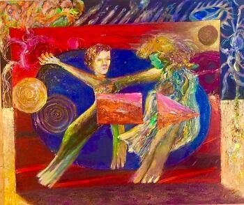 Uno de los cuadros de Miguel Méndez