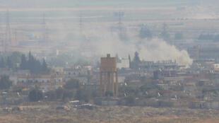 Расэль-Айн после бомбардировки турецкой авиацией, 18 октября 2019.