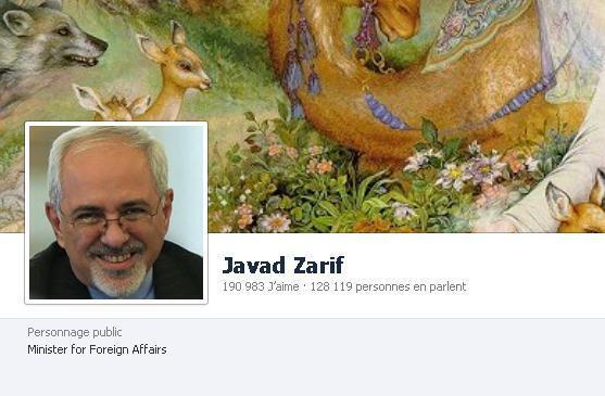 صفحه فیس بوک محمد جواد ظریف